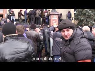 1 марта 2014 года освобождение Харьковской облгосадминистрации от бандеровских экстремистов, ранее захвативших здание.