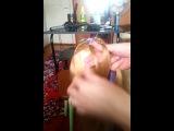коса из 6 прядей и одной ленты (корсет)